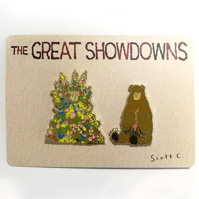 San Diego Comic-Con 2020 Exclusive The Great Showdowns Pin Sets by Scott C. (2)