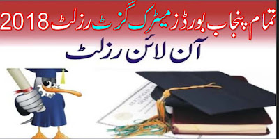 Punjab BISE Matric Result Gazette 2018