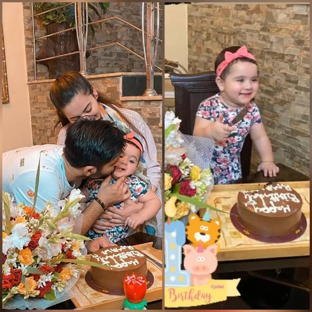 Aiman Khan and Muneeb Butt celebrated 1st birthday of Amal Muneeb