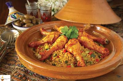 الكسكوس المغربي بالدجاج