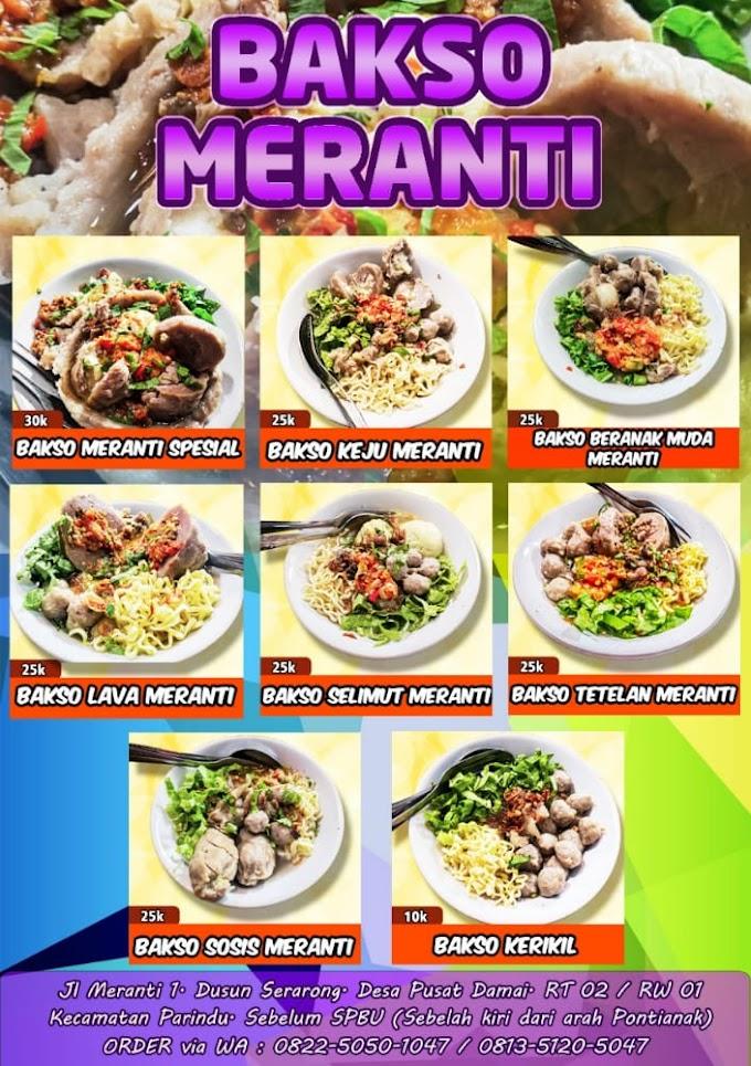 Kuliner Bakso Meranti Dusun Serarong Kecamatan Parindu Kab. Sanggau
