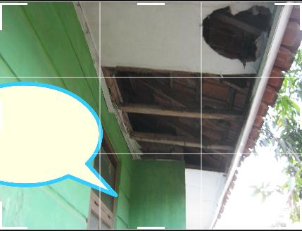 Banyaknya kerusakan membuat kondisi rumah harus direnovasi terlebih dahulu sebelum ditempati