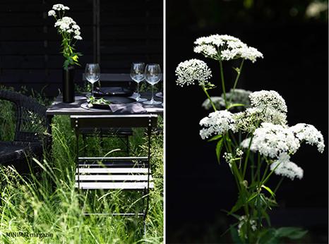 Tischdeko mit Girsch und Tischsets aus Wollfilz.