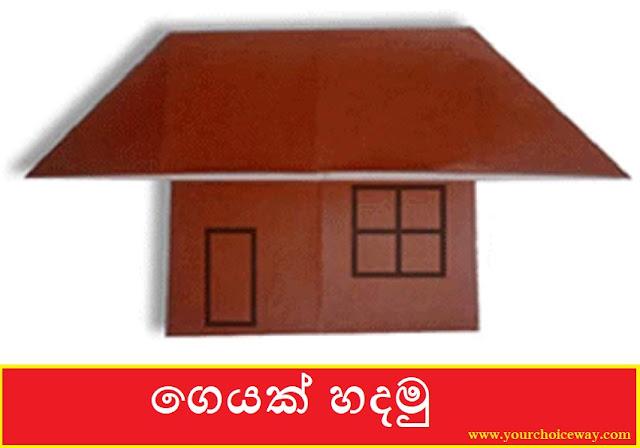 ගෙයක් හදමු (Origami House) - Your Choice Way