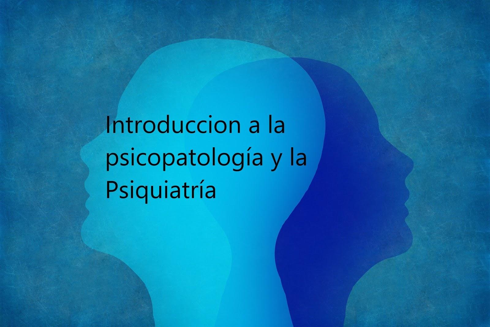 Introducción a la psicopatología y la psiquiatría. Descargar gratis.