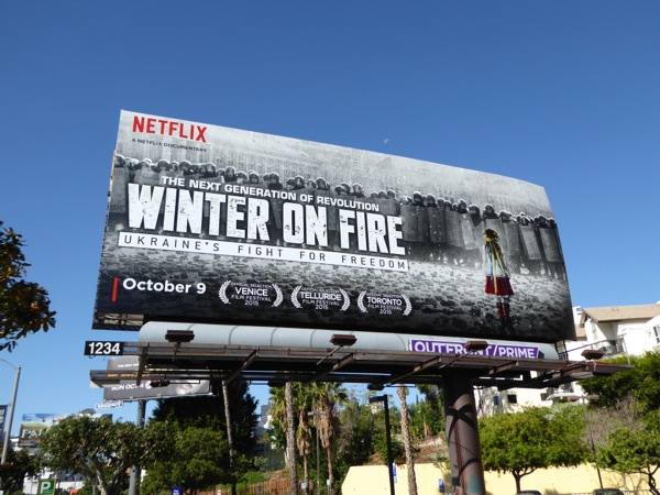 Winter on Fire documentary billboard