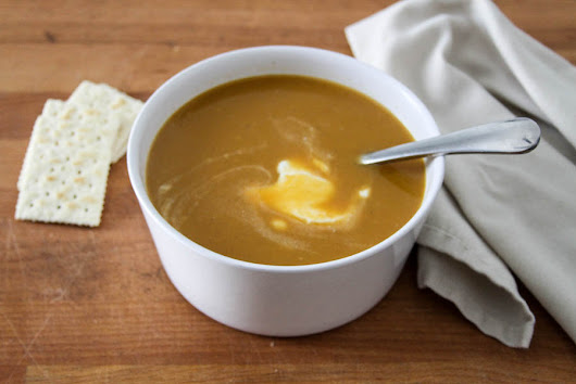 Simple Foods: Sweet Potato, Red Lentil and Coconut Soup Recipe