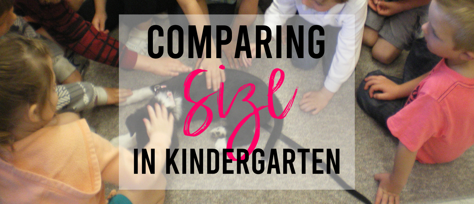 Measurement and comparing lengths math activities for Kindergarten with a FREE download