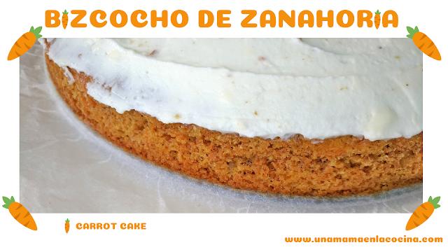 Bizcocho de zanahoria. Carrot cake casera con harina integral
