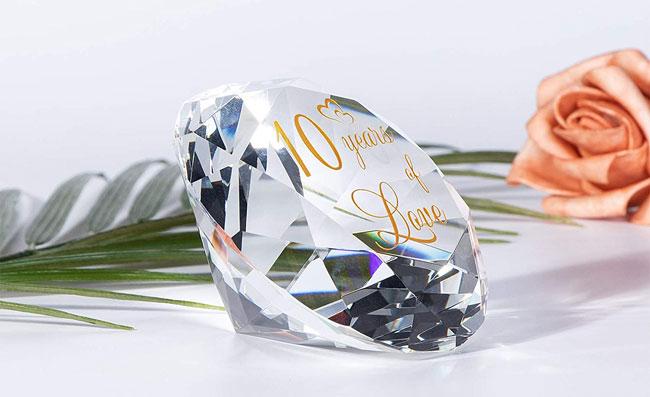 romantic crystal gift 10 wedding anniversary