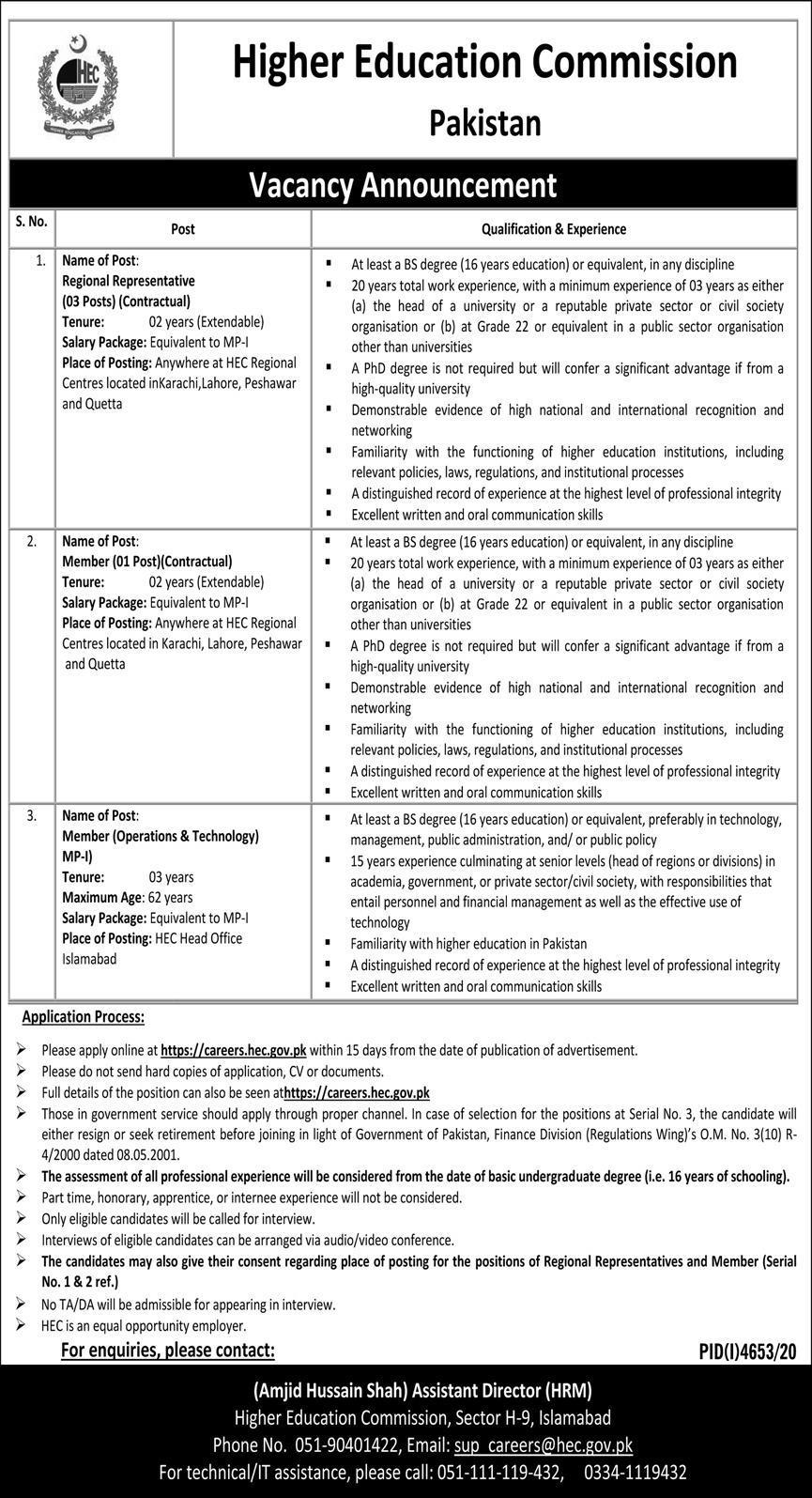 www.hec.gov.pk Jobs 2021 - Higher Education Commission Jobs 2021 - HEC Jobs 2021 - Punjab Jobs 2021 - www.careers.hec.gov.pk