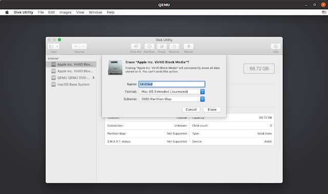 macOS formatında HDD disk yardımcı programı