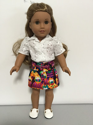 "Button front skirt for 18"" dolls"
