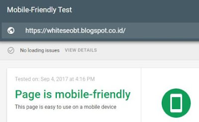 White SEO Blogger Template Structured Data, Speed, SEO Test.