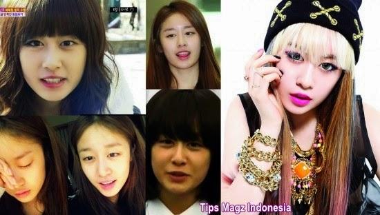 artis korea Jiyeon - T-ara saat tanpa mengenakan makeup