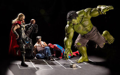 Hulk, Thor, Spider Man y Wolverine figuras de acción