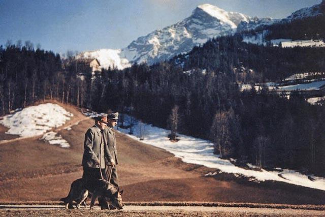 Hitler in the mountains during World War II worldwartwo.filminspector.com