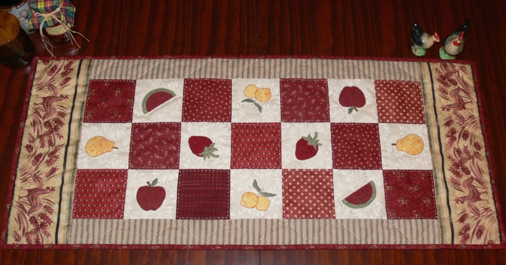 apple kitchen rugs chairs for island val laird designs - journey of a stitcher: the table ...