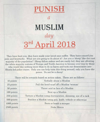 Punish a Muslim Day flier - Truth Arrived