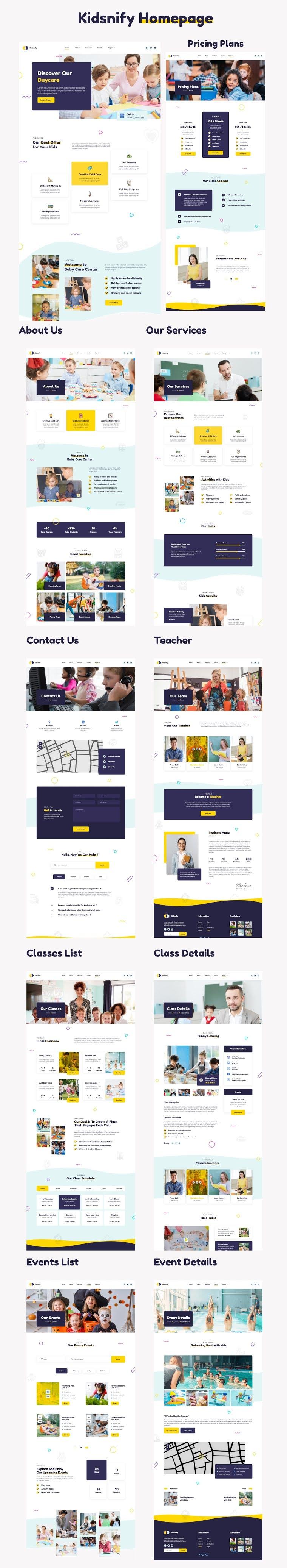 Daycare Adobe XD Template Kit