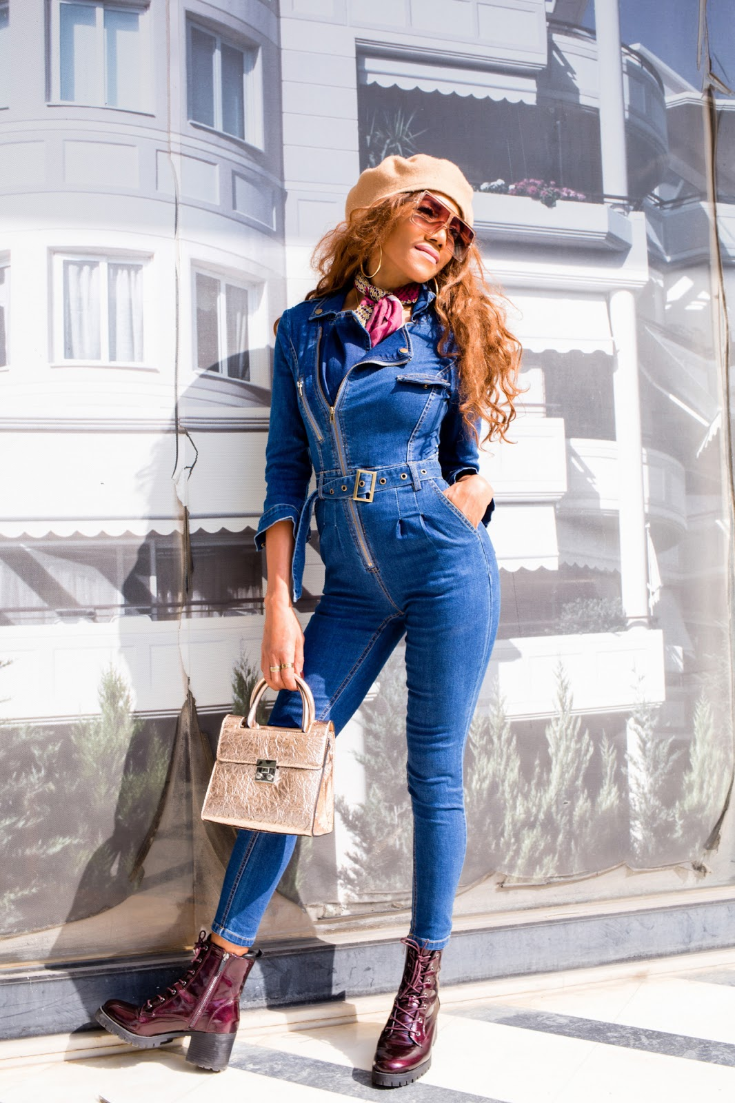 e05752067cf1 I simply adore the denim fabric this jumpsuit is made of. It s a strong