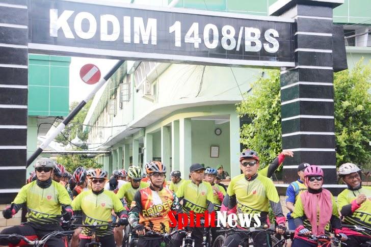 Dandim 1408/BS Makassar, Jadikan Fun Bike Berbagi Pada Anak Yatim Piatu