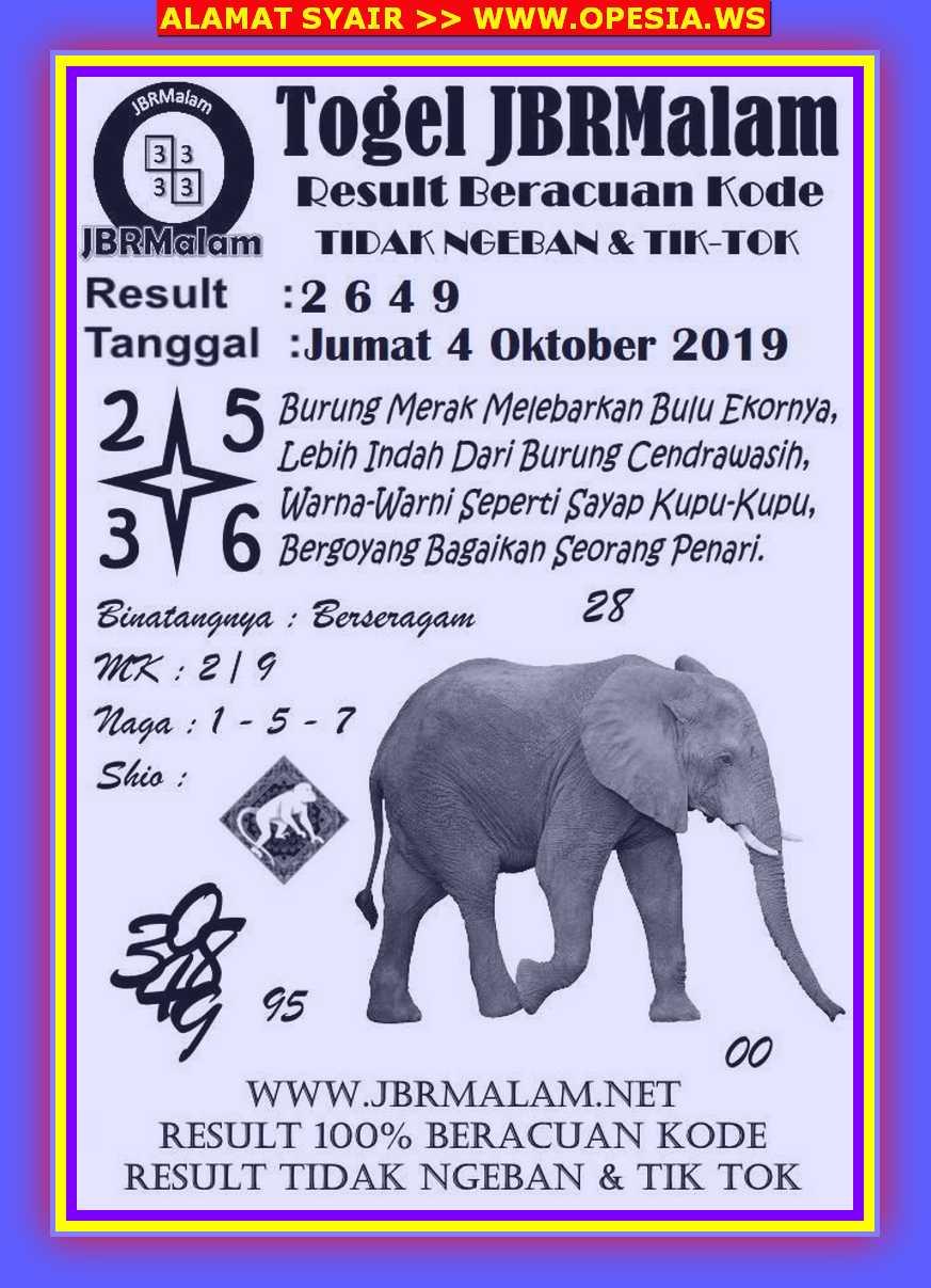 Kode syair Hongkong Jumat 4 Oktober 2019 77