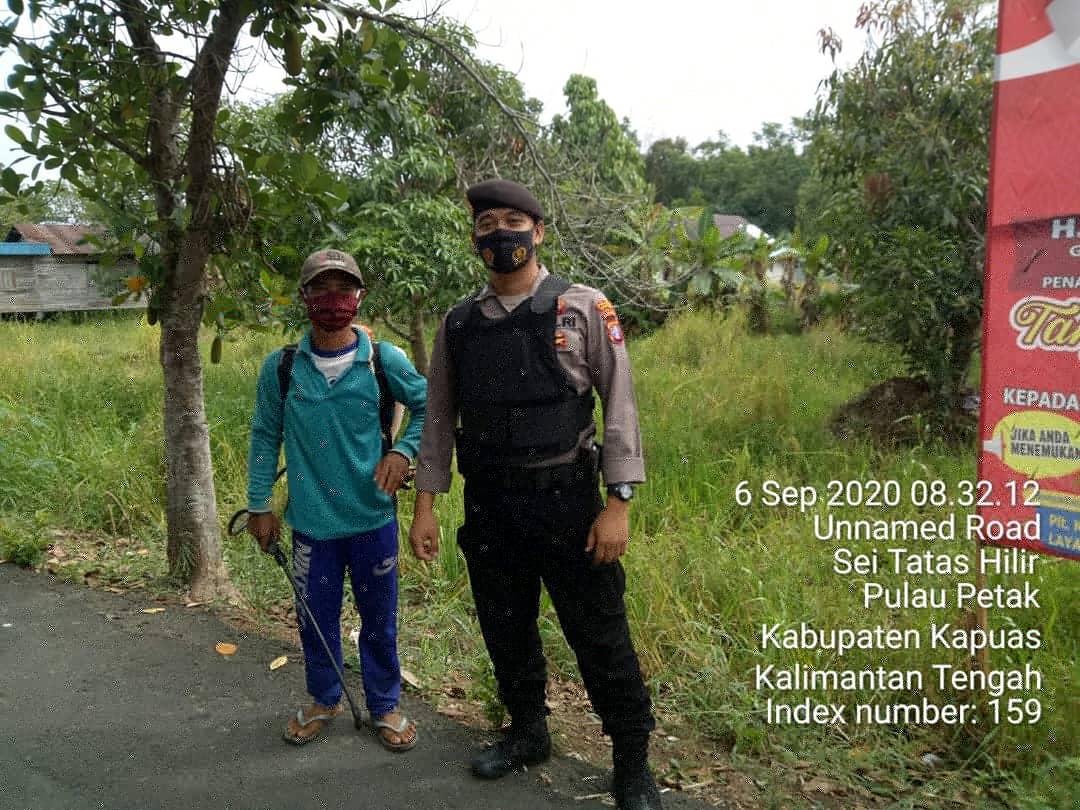 Dukung Ketahanan Pangan, Polsek Pulau Petak Beri Motivasi Kepada Petani