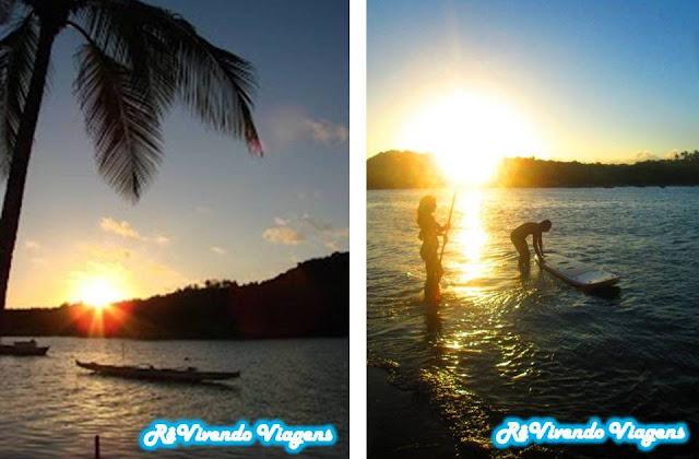 Por do sol em Caraíva