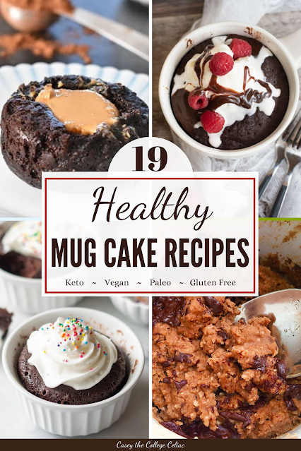 Need an easy, quick and yummy #glutenfree dessert? You'll love this round up mug cakes, which includes #vegan, #keto, #paleo and #sugarfree options!