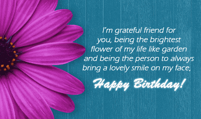 touching birthday message to a best friend funny