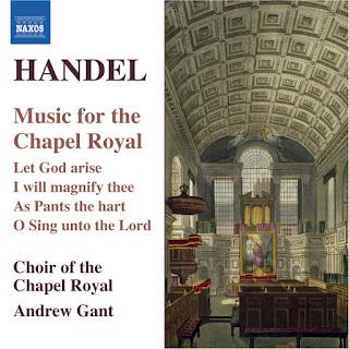 Grabación del sello Naxos donde encontramos varias obras corales compuestas por Handel durante su juventud una vez llegado a Londres para la Capilla Real. Por cierto, en este cd grabado unos veinte años después de la integral de los Himnos Chandos, también aparece el contratenor James Bowman.