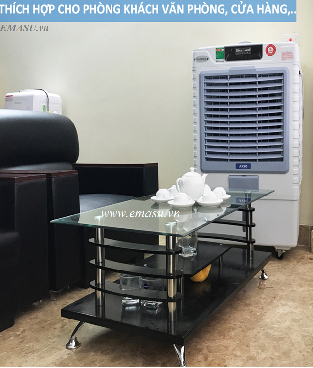 Không gian sử dụng quạt điều hòa Akyo AK8000 cho phòng khách, văn phòng, nhà hàng...