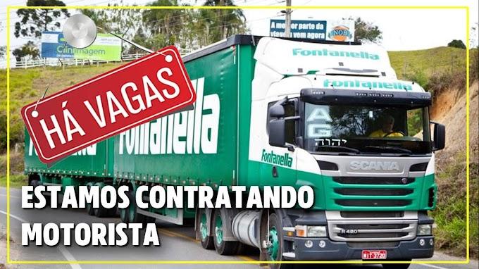 Fontanela Transporte está contratando motorista