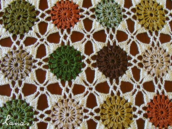 Free Crochet Pattern of A Square Motif Crochet Tablecloth