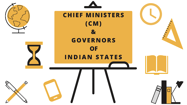 CHIEF MINISTER (CM) and GOVERNOR OF INDIA - 2020 Updated List