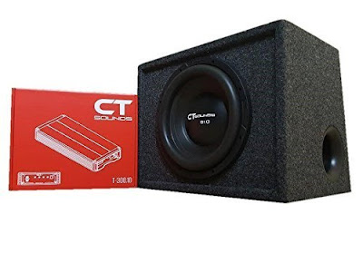 CT Sounds 12 Inch Subwoofer Bass Package in Ported Box with Amplifier