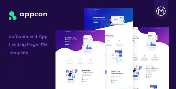 Software and App Landing Page HTML5 Template