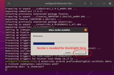 Docklight Installation - Do install Gecko