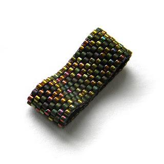 купить украшения из бисера, кольцо ручной работы, peyote ring