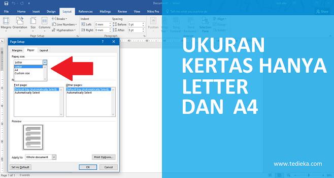 Cara Memunculkan Kembali Ukuran Kertas di Microsoft Word yang Hilang