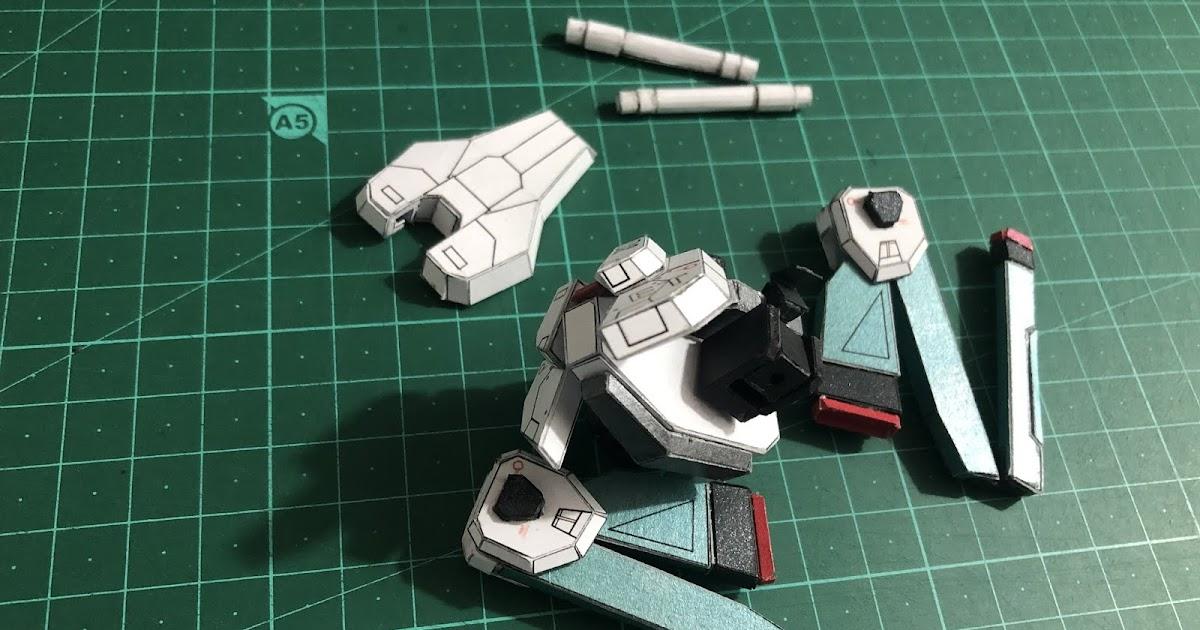 T.F.Z.Ch Studio: Sd Freedom Gundam version T.F.Z.Ch - (C) 裙甲紙模型製作 - Lower Body Part