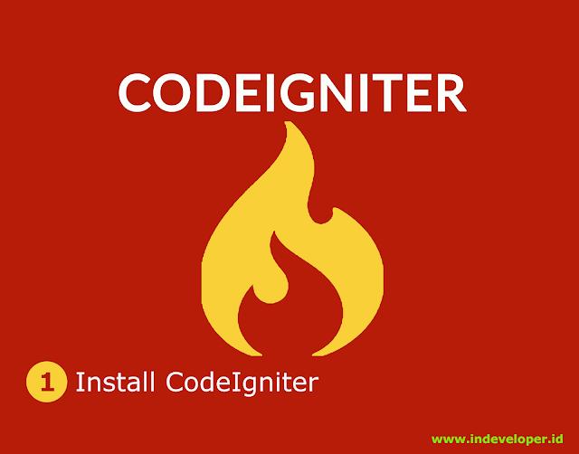 Install codeigniter