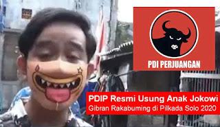 PDIP Usung Gibran Putra Jokowi di Pilkada Solo, Yang Teriak 'Politik Dinasti' Tiba-tiba Mingkem