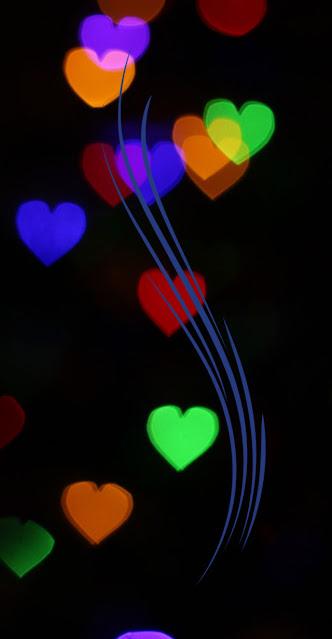 color ful heart cute love iphone wallpaper
