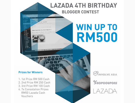 Lazada 4th Birthday Blogger Contest