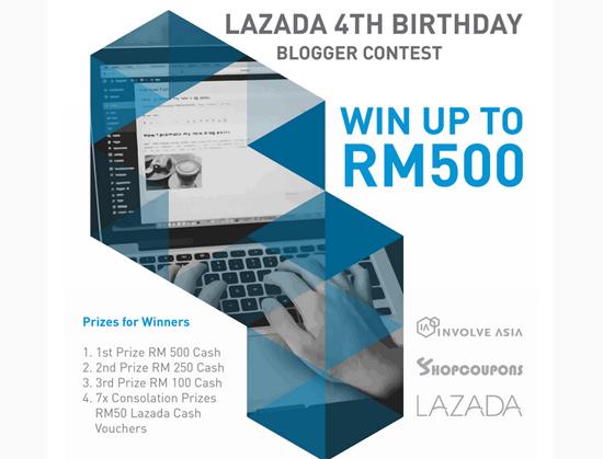 Lazada 4th Birthday Blogger Contest