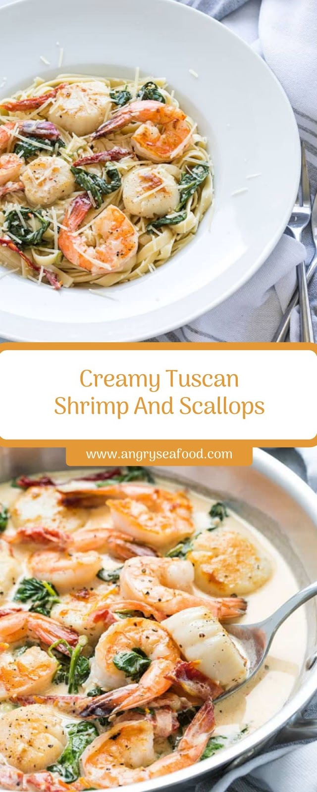 Creamy Tuscan Shrimp And Scallops