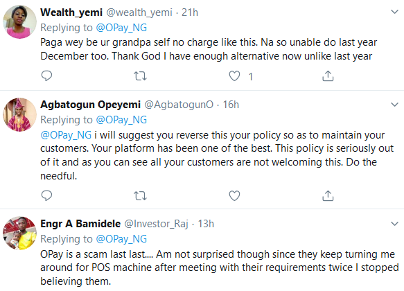 Lol - Customers React as OPay Introduces 1% Transaction Fee