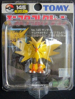 Zapdos Pokemon figure Tomy Monster  Collection black package series